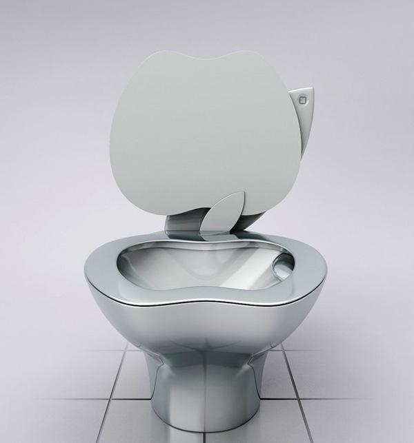 苹果LOGO附身!设计师创作马桶作品iPoo创意设计欣赏