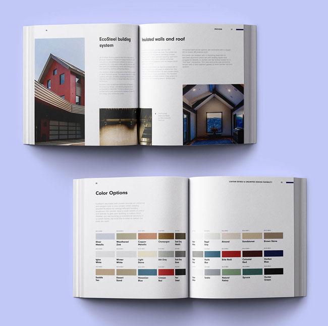EcoSteel建筑公司画册设计欣赏,深圳画册设计